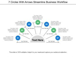 7 Circles With Arrows Streamline Business Workflow