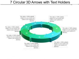 7 Circular 3d Arrows With Text Holders