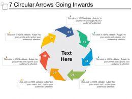 7 Circular Arrows Going Inwards