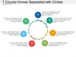 7 Circular Arrows Separated With Circles