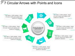 7 Circular Arrows With Points And Icons