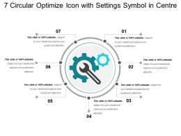 7 Circular Optimize Icon With Settings Symbol In Centre