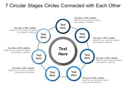 7 Circular Stages Circles Connected With Each Other