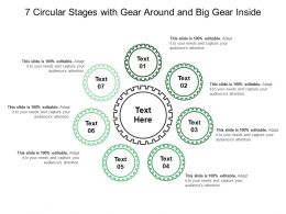 7 Circular Stages With Gear Around And Big Gear Inside