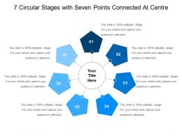 7 Circular Stages With Seven Points Connected At Centre