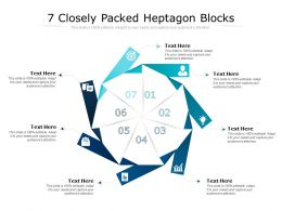 7 Closely Packed Heptagon Blocks