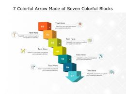 7 Colorful Arrow Made Of Seven Colorful Blocks