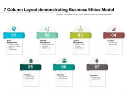 7 Column Layout Demonstrating Business Ethics Model