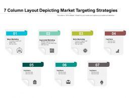 7 Column Layout Depicting Market Targeting Strategies