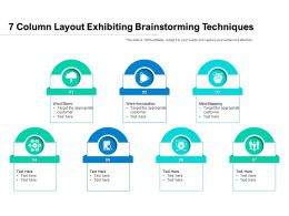 7 Column Layout Exhibiting Brainstorming Techniques