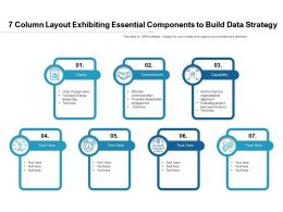 7 Column Layout Exhibiting Essential Components To Build Data Strategy