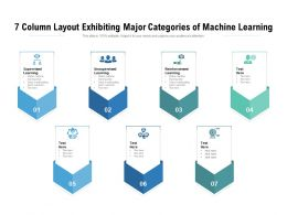 7 Column Layout Exhibiting Major Categories Of Machine Learning