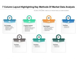 7 Column Layout Highlighting Key Methods Of Market Data Analysis