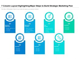 7 Column Layout Highlighting Major Steps To Build Strategic Marketing Plan