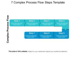 7 Complex Process Flow Steps Template PowerPoint Images