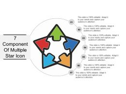 7 Component Of Multiple Star Icons Ppt Ideas
