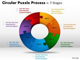 7 Components Circular Puzzle Process