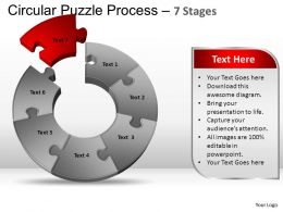 7 Components Circular Puzzle Process Powerpoint Slides And ppt Templates 0412