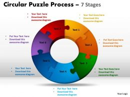 7 Components diagram Circular Puzzle Process 7