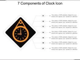 7 Components Of Clock Icon Ppt Slides  Download