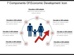 7 Components Of Economic Development Icon Ppt Examples