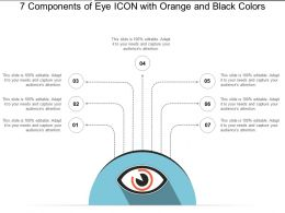 7 Components Of Eye Icon With Orange And Black Colors