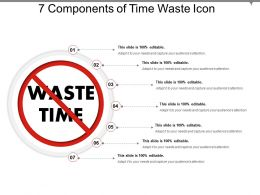 7 Components Of Time Waste Icon Presentation Design