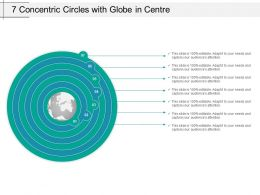 7 Concentric Circles With Globe In Centre