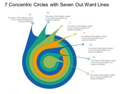 7 Concentric Circles With Seven Out Ward Lines