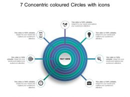 7 Concentric Coloured Circles With Icons