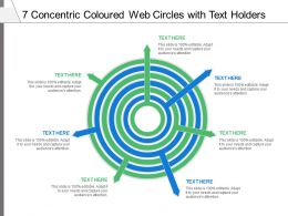 7 Concentric Coloured Web Circles With Text Holders