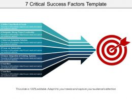 7 Critical Success Factors Template Ppt Background Graphics