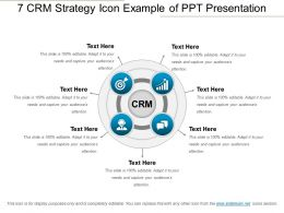 7 Crm Strategy Icon Example Of Ppt Presentation
