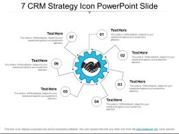 7 Crm Strategy Icon Powerpoint Slide