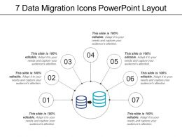 7 Data Migration Icons Powerpoint Layout