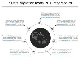 7 Data Migration Icons Ppt Infographics
