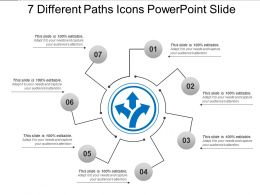 7 Different Paths Icons Powerpoint Slide
