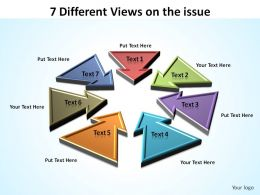7 different views on issue inward facing arrows ppt slides diagrams templates powerpoint info graphics