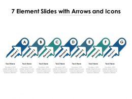 7 Element Slides With Arrows And Icons
