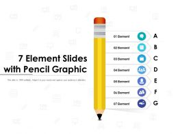 7 Element Slides With Pencil Graphic