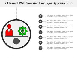 7 Element With Gear And Employee Appraisal Icon