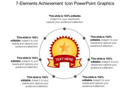 7 Elements Achievement Icon Powerpoint Graphics