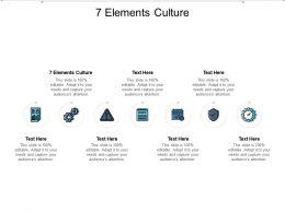 7 Elements Culture Ppt Powerpoint Presentation Ideas Format Ideas Cpb
