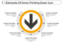 7 Elements Of Arrow Pointing Down Icon
