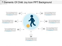 7 Elements Of Child Joy Icon Ppt Background