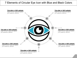 7 Elements Of Circular Eye Icon With Blue And Black Colors