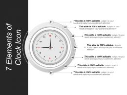 7 Elements Of Clock Icon Presentation Deck