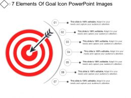 7 Elements Of Goal Icon Powerpoint Images