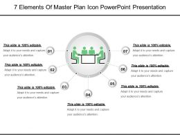7 Elements Of Master Plan Icon Powerpoint Presentation