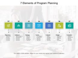 7 Elements Of Program Planning